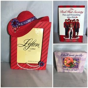 Other - Red Hat Society Gift Set Pic Frame Notecards Book